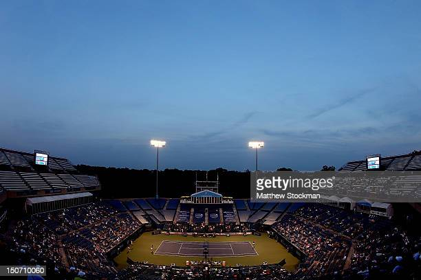 Sara Errani of Italy plays Petra Kvitova of Cezch Republic during the semifinals of the New Haven Open at Yale at the Connecticut Tennis Center at...