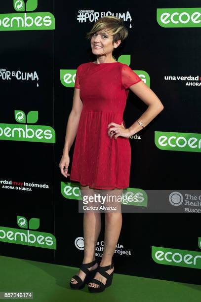 Sara Escudero attends 'An Inconvenient Sequel Truth to Power' premiere at the Callao cinema on October 3 2017 in Madrid Spain