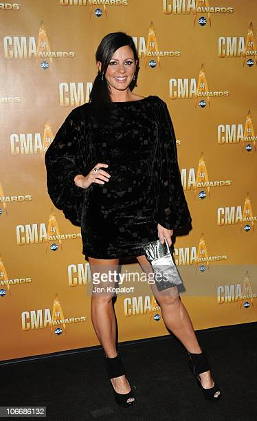 Sara Evans attends the 44th Annual CMA Awards at the Bridgestone Arena on November 10 2010 in Nashville Tennessee