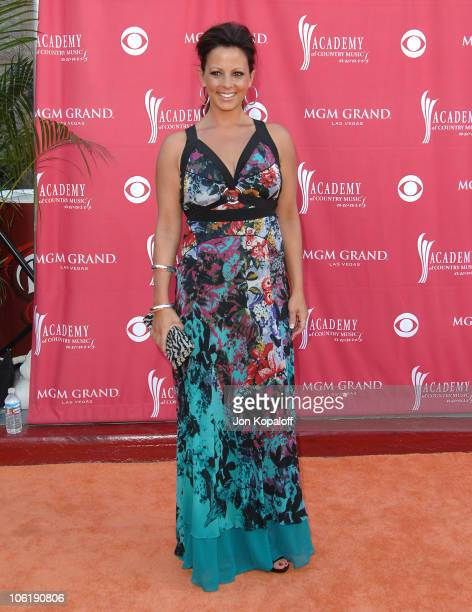 Sara Evans during 42nd Academy of Country Music Awards Arrivals at MGM Grand Hotel and Casino Resort in Las Vegas Nevada United States