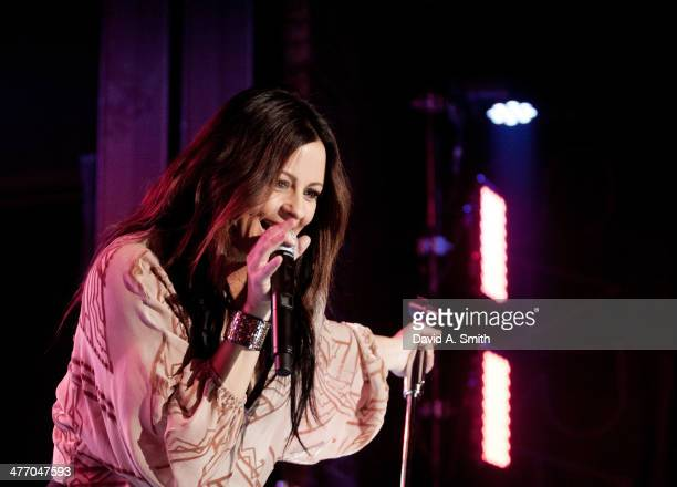 Sara Evans performs at the 'Hurry Up To Slow Me Down' CD release party at Iron City on March 6 2014 in Birmingham Alabama