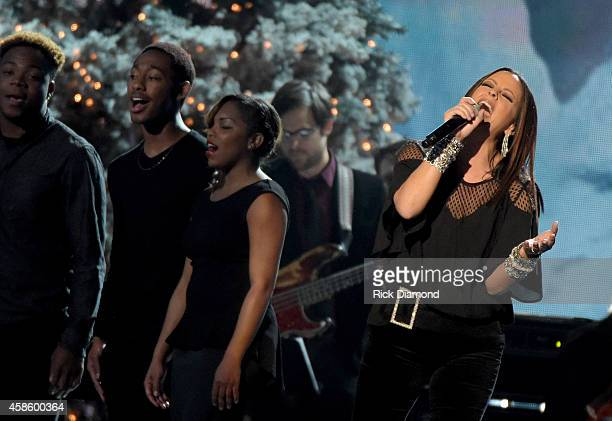 Sara Evans performs during the CMA 2014 Country Christmas on November 7 2014 in Nashville Tennessee