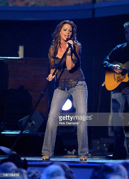 Sara Evans performs Real Fine Place to Start during The 40th Annual CMA Awards Show at Gaylord Entertainment Center in Nashville Tennessee United...