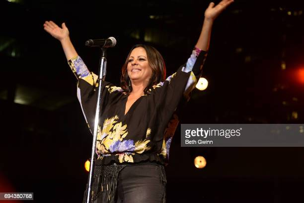 Sara Evans plays the Cracker Barrel Stage during CMA Fest on June 9 2017 in Nashville Tennessee