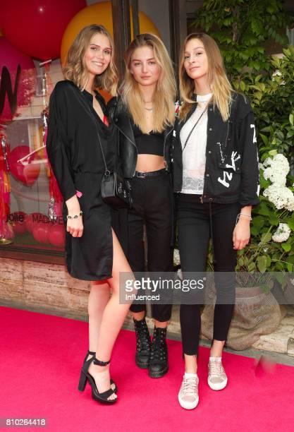 Sara Faste Julia Wulf and Laura Duenninger attend the Gala Fashion Brunch Ellington Hotel on July 7 2017 in Berlin Germany
