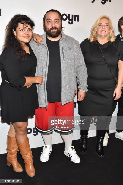Sara Fazilat Kailas Mahadevan and Petra Kleinert attend the Check Check Joyn event at Astor Film Lounge on October 17 2019 in Berlin Germany