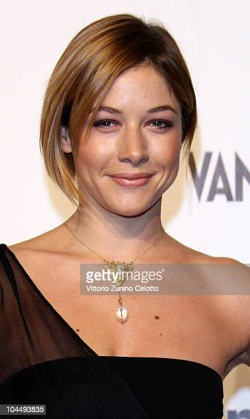 Sara Felberbaum attends amfAR Milano 2010 Red Carpet during Milan Fashion Week Womenswear Spring/Summer 2011 at La Permanente on September 27 2010 in...