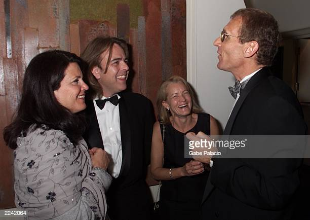 Sara Fischer of Showtime Randy Stone and Cydney Bernard of Emmy nominated 'Ratz/A storm in Summer' laugh with Jerry Offsay President of Original...