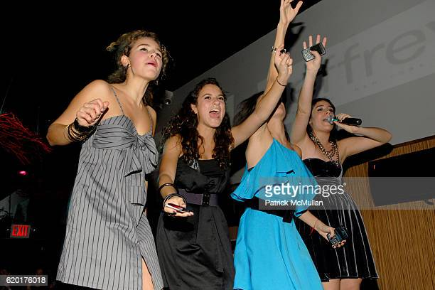 Sara Foresi, Guest, Remy Geller and Cara Greenspan attend Party 4 a Cause at The Ultra on November 8, 2008 in New York City.
