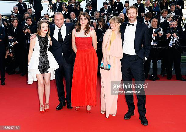 Sara Forestier Francois Damiens Adele Haenel Katell Quillevere and Paul Hamy attend the Premiere of 'Le Passe' during The 66th Annual Cannes Film...
