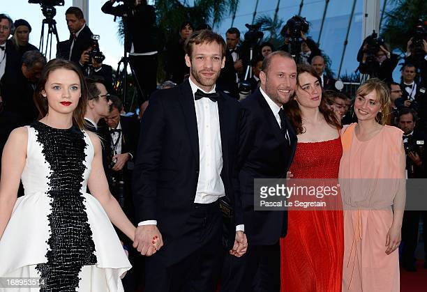 Sara Forestier Paul Hamy Francois Damiens Adele Haenel and Katell Quillevere attend the Premiere of 'Le Passe' during The 66th Annual Cannes Film...