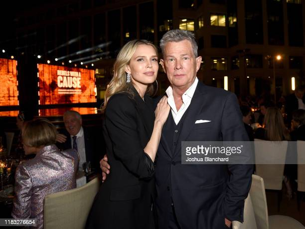 Sara Foster and David Foster attend the Transformative Medicine of USC: Rebels with a Cause GALA at on October 24, 2019 in Santa Monica, California.