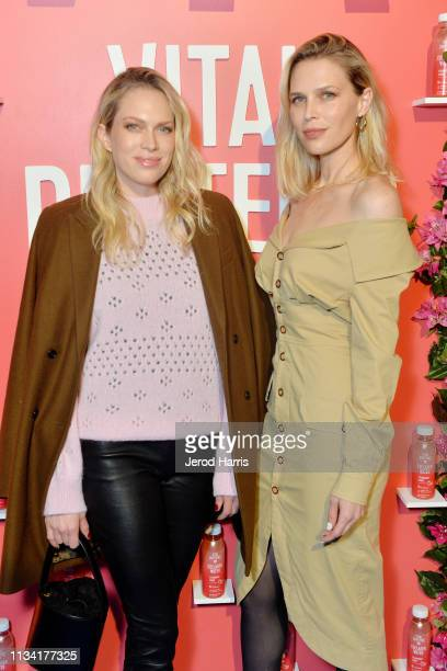 Sara Foster and Erin Foster attend Vital Proteins Collagen Water Product Launch Event on March 06 2019 in Irvine California