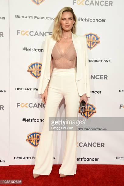 Sara Foster arrives at FCancer's 1st Annual Barbara Berlanti Heroes Gala at Warner Bros. Studios on October 13, 2018 in Burbank, California.