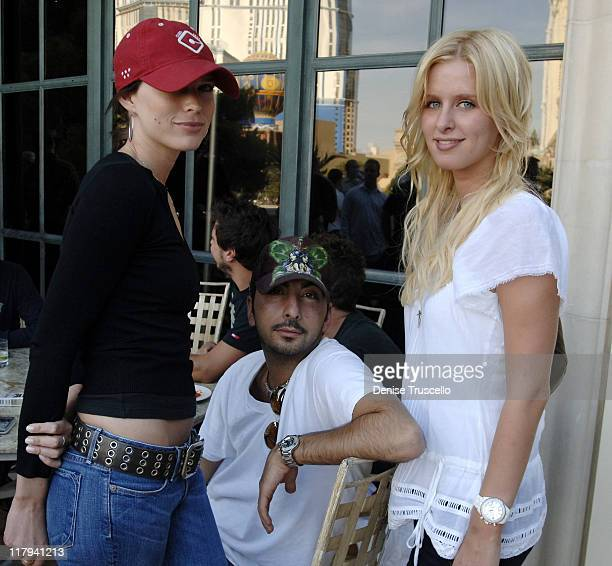 Sara Foster Danny A and Nicky Hilton during LIGHT Nightclub 4th Year Anniversary Celebration $25000000 Poker Tournement at The Bellagio Hotel and...