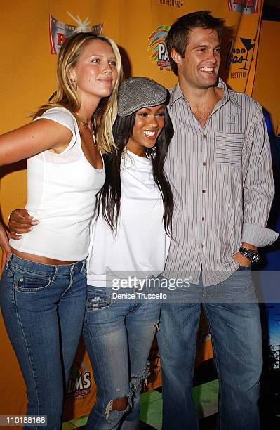 """Sara Foster, Meagan Good and Geoff Stults during CineVegas 2004 - """"D.E.B.S."""" Premiere at The Palms Casino Resort in Las Vegas, Nevada."""