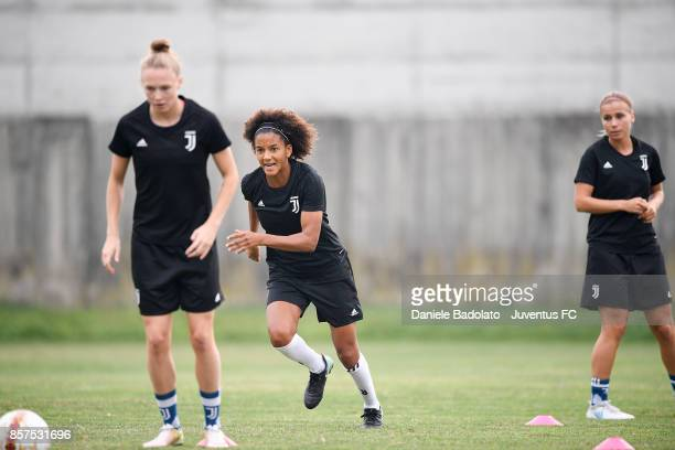 Sara Gama during a Juventus Women training session on October 4 2017 in Turin Italy