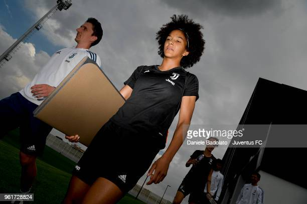 Sara Gama during the Juventus Women training session on May 23 2018 in Turin Italy