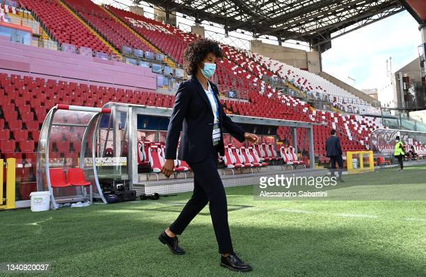 Sara Gama of Italy before the FIFA Women's World Cup 2023 Qualifier group G match between Italy and Moldova at Stadio Nereo Rocco on September 17,...