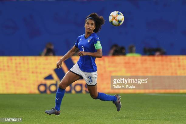 Sara Gama of Italy in action during the 2019 FIFA Women's World Cup France group C match between Italy and Brazil at Stade du Hainaut on June 18 2019...