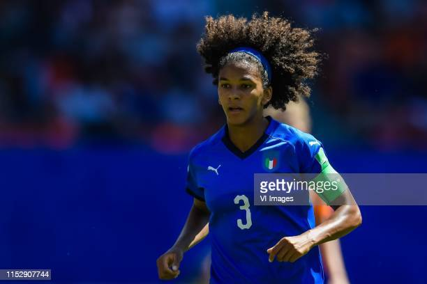 Sara Gama of Italy women during the FIFA Women's World Cup France 2019 quater final match between Italy and The Netherlands at Stade du Hainaut on...