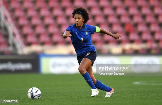 Sara Gama of Italy Women in action during the FIFA Women's World Cup 2023 Qualifier group G match between Italy and Moldova at Stadio Nereo Rocco on...