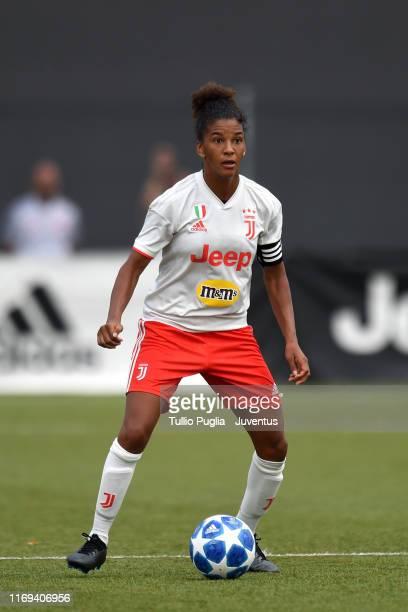 Sara Gama of Juventus Women in action during the preseason friendly match between Juventus Women and Lugano at Juventus Center Vinovo on August 11...