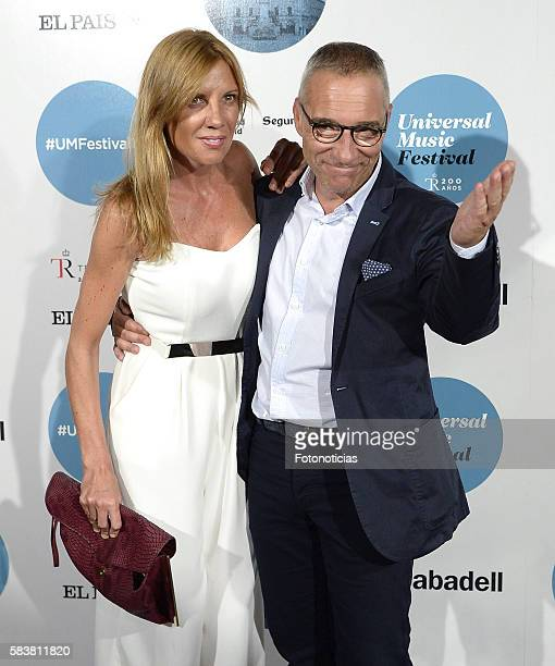 Sara Garcia and Goyo Gonzalez attend the Diana Krall Universal Music Festival concert at the Royal Theater on July 27 2016 in Madrid Spain