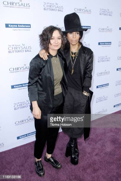 Sara Gilbert and honoree Linda Perry attend the 18th annual Chrysalis Butterfly Ball on June 01 2019 in Brentwood California