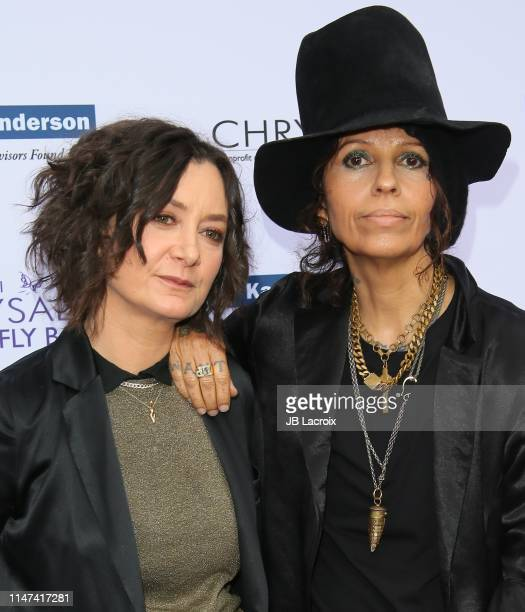 Sara Gilbert and Linda Perry attend the 18th annual Chrysalis Butterfly Ball on June 01 2019 in Brentwood California