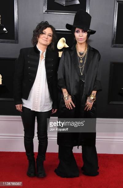 Sara Gilbert and Linda Perry attend the 61st Annual GRAMMY Awards at Staples Center on February 10 2019 in Los Angeles California