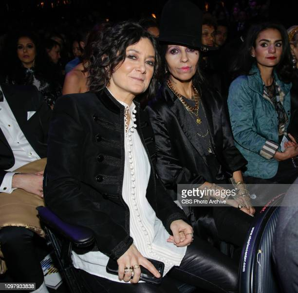 Sara Gilbert and Linda Perry attend THE 61ST ANNUAL GRAMMY AWARDS broadcast live from the STAPLES Center in Los Angeles Sunday Feb 10 on the CBS...