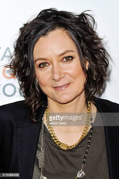 Sara Gilbert arrives at the Family Equality Council's Impact Awards at The Beverly Hilton Hotel on March 12 2016 in Beverly Hills California
