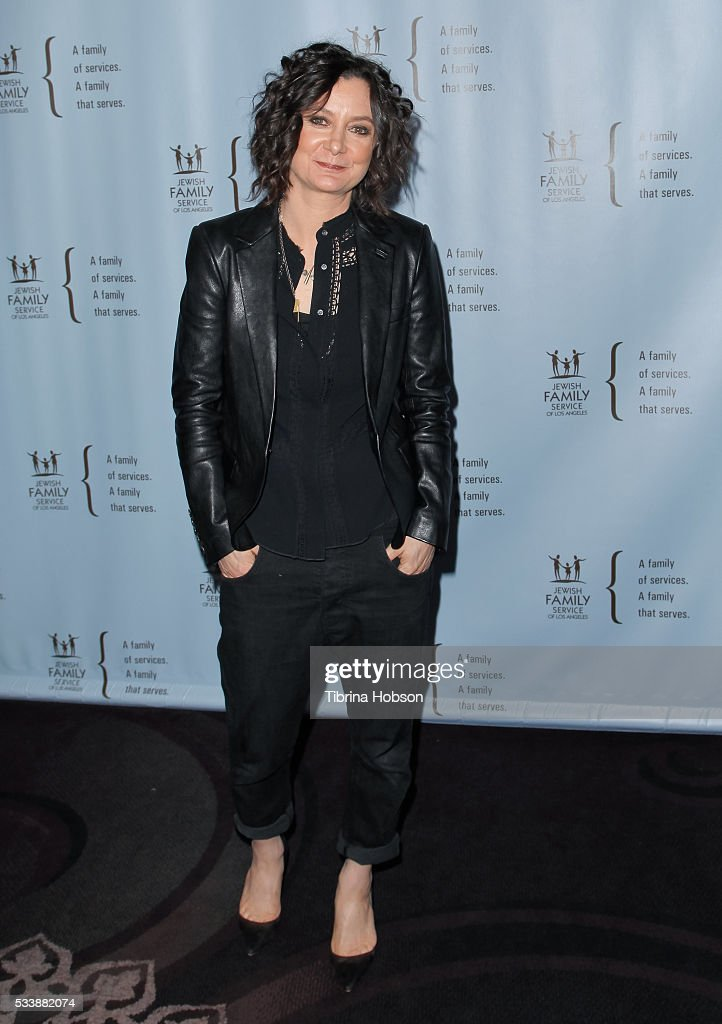 Sara Gilbert attends the Jewish Family Service of Los Angeles 23rd Annual Gala Dinner at The Beverly Hilton Hotel on May 23, 2016 in Beverly Hills, California.