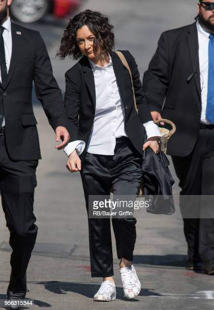 Sara Gilbert is seen at 'Jimmy Kimmel Live' on May 08 2018 in Los Angeles California