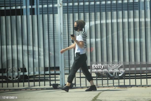 Sara Gilbert is seen on May 28 2020 in Los Angeles CA
