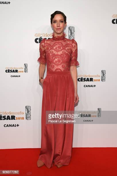 Sara Giraudeau arrives at the Cesar Film Awards 2018 at Salle Pleyel on March 2 2018 in Paris France