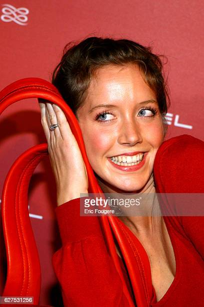 Sara Giraudeau at the Lancel Red Party held at the Olympia in Paris