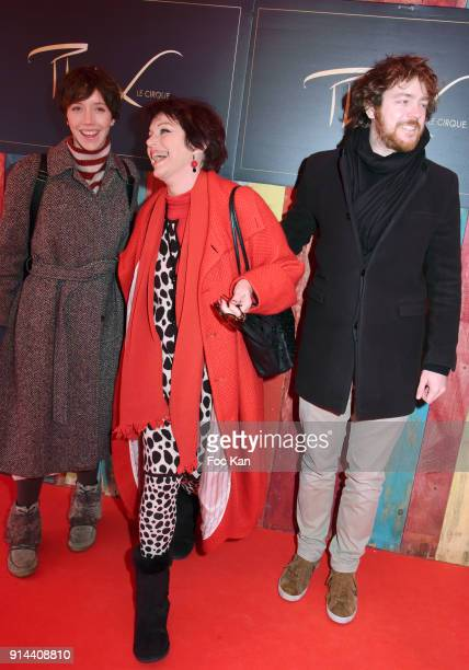 Sara Giraudeau her mother Anny Duperey and her brother Gael Giraudeau attend 39th 'Festival Mondial Du Cirque de Demain' Awards Ceremony At Cirque...