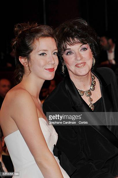 Sara Giraudeau with her mother Anny Duperey at the 23rd Molieres Awards, held at the Theatre de Paris.