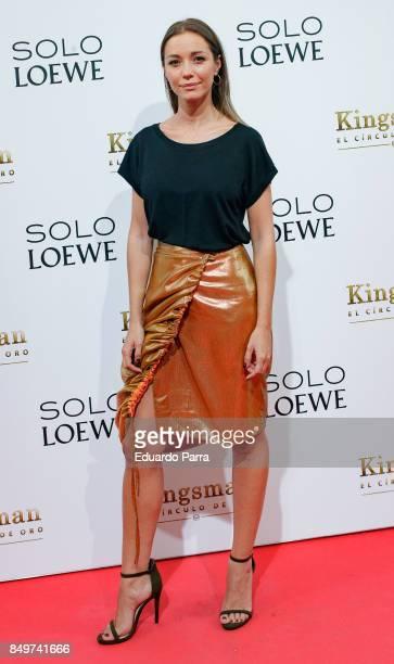 Sara Gonzalez attends the 'Kingsman El Circulo De Oro' premiere at Callao cinema on September 19 2017 in Madrid Spain