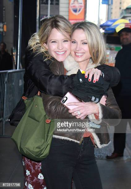 Sara Haines and Amy Robach are seen on November 09 2017 in New York City
