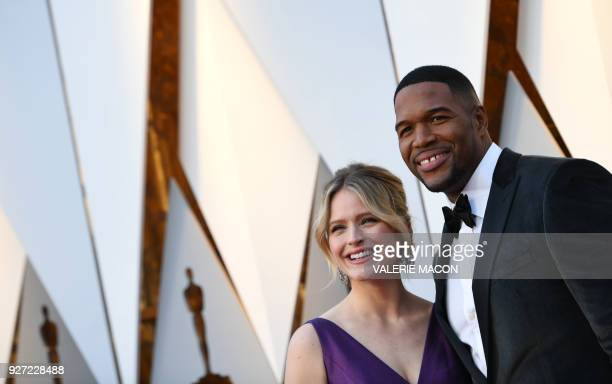 Sara Haines and Michael Strahan arrive for the 90th Annual Academy Awards on March 4 in Hollywood California / AFP PHOTO / VALERIE MACON