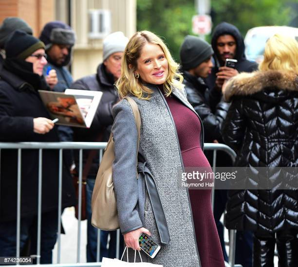 Sara Haines is seen outside 'The View' on November 14 2017 in New York City