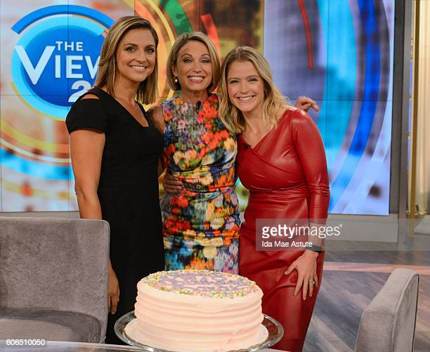 THE VIEW Sara Haines is treated to several birthday surprises including a performance by 80's pop star Tiffany today 9/16/16 on The View airing on...