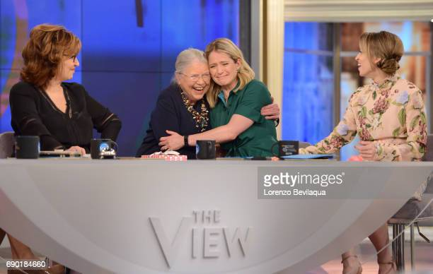 THE VIEW Sara Haines is visited by her her favorite grade school teacher Mrs Helfrich on Tuesday May 30 2017 on Walt Disney Television via Getty...