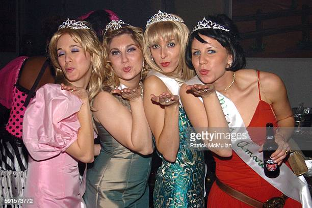 Sara Hasson Lisa Brethauer Amanda Brotman and Courtney Allen attend MARC JACOBS Annual Holiday Party at Skylight Studios on December 13 2005 in New...