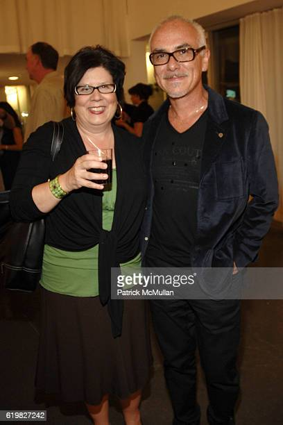 Sara Heartly and Steven Mora attend SPFa Gallery at MODAA presents the architecture of William Krisel at SPFa Gallery at MODAA on October 17 2008 in...