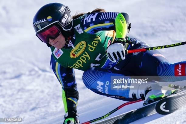 Sara Hector of Sweden in the second run of the Alpine Ski World Cup - Women's Giant Slalom on October 26, 2019 in Soelden, Austria.