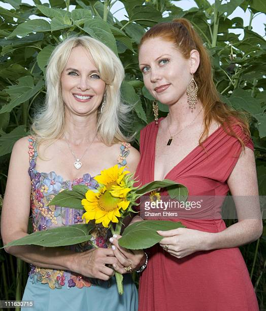 Sara Herbert-Galloway and Caroline McBride attend Sunflowers After Hours at a private residence on August 9, 2008 in Southampton, New York.
